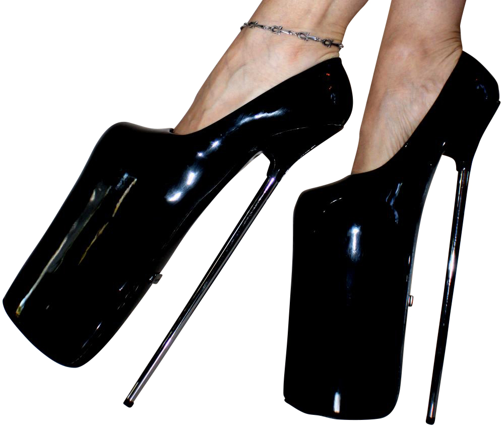 erogance lack 30cm plateau high heels pumps schwarz gr 36 46 neu 6153 ebay. Black Bedroom Furniture Sets. Home Design Ideas