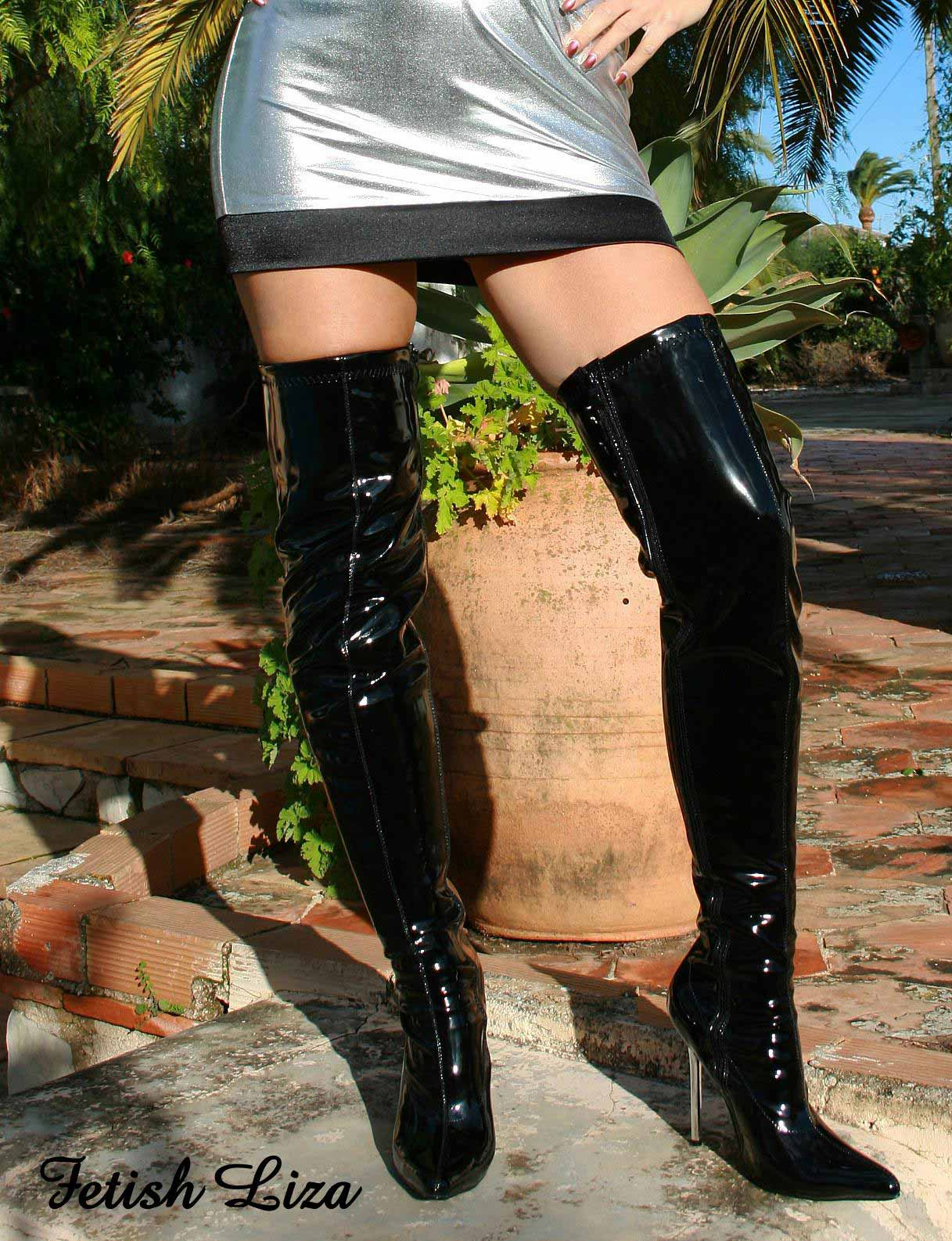 Boots Details 10907a Show Thigh Stretch Size About Black 37 46 Patent Title Erogance High New Original Heels 80wOnPXkN